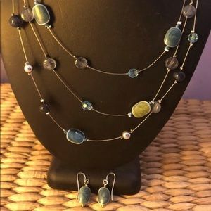 Jewelry - Necklace and earrings set, 3 tier